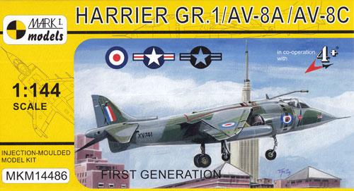 ハリアー GR.1/AV-8A/AV-8C ファーストジェネレーションプラモデル(MARK 1MARK 1 modelsNo.MKM14486)商品画像