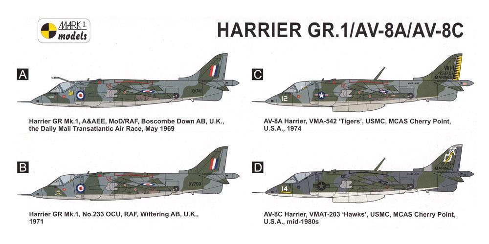 ハリアー GR.1/AV-8A/AV-8C ファーストジェネレーションプラモデル(MARK 1MARK 1 modelsNo.MKM14486)商品画像_1