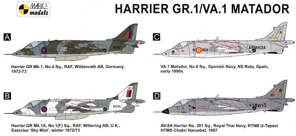 ハリアー GR.1/VA.1 マタドール VTOL/STOL ファイタープラモデル(MARK 1MARK 1 modelsNo.MKM14487)商品画像_1