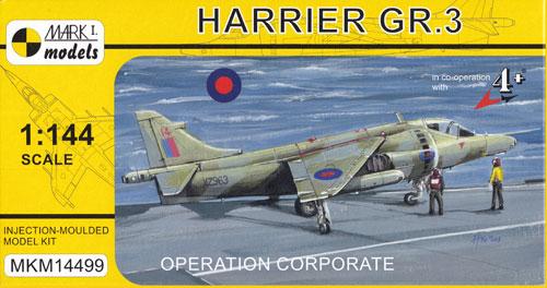 ハリアー GR.3 フォークランド紛争プラモデル(MARK 1MARK 1 modelsNo.MKM14499)商品画像