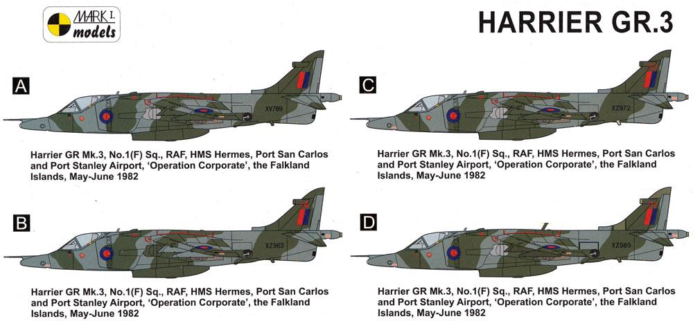 ハリアー GR.3 フォークランド紛争プラモデル(MARK 1MARK 1 modelsNo.MKM14499)商品画像_1