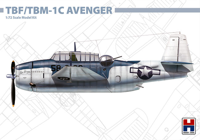 TBF/TBM-1C アベンジャープラモデル(HOBBY 20001/72 モデルキットNo.72009)商品画像