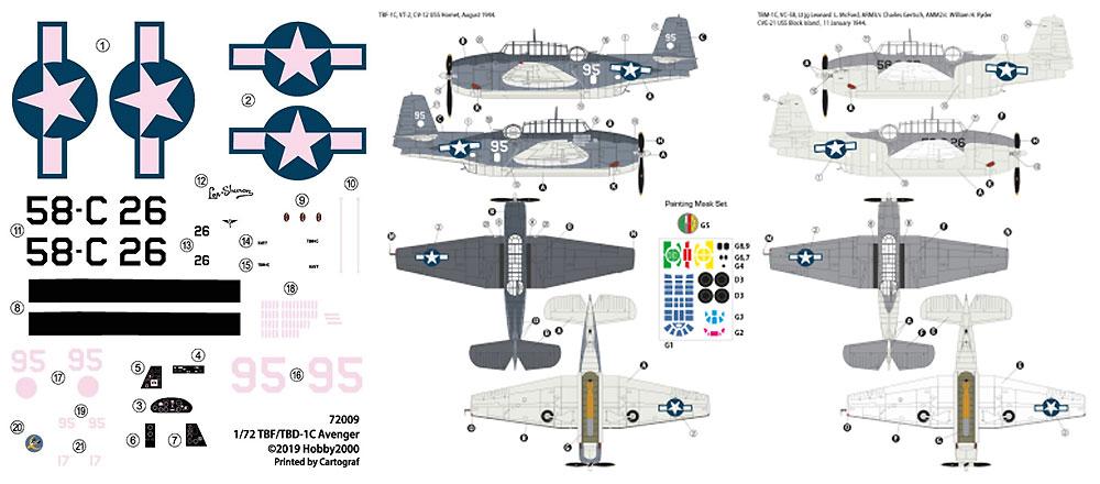 TBF/TBM-1C アベンジャープラモデル(HOBBY 20001/72 モデルキットNo.72009)商品画像_2