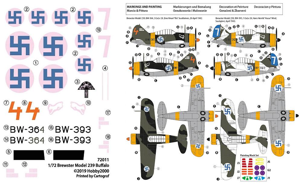 ブリュースター 239 バッファロー フィンランドエース 1942プラモデル(HOBBY 20001/72 モデルキットNo.72011)商品画像_2