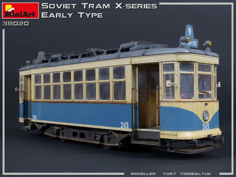 ソビエト 路面電車 Xシリーズ 初期型プラモデル(ミニアート1/35 ミニチュアシリーズNo.38020)商品画像_3