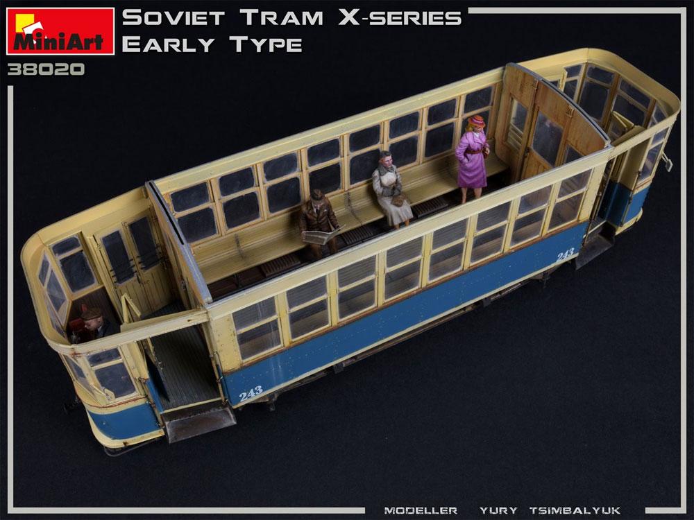 ソビエト 路面電車 Xシリーズ 初期型プラモデル(ミニアート1/35 ミニチュアシリーズNo.38020)商品画像_4