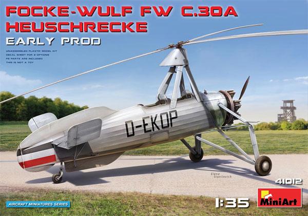 フォッケウルフ FW C.30A ホイシュレッケ 初期型プラモデル(ミニアートエアクラフトミニチュアシリーズNo.41012)商品画像
