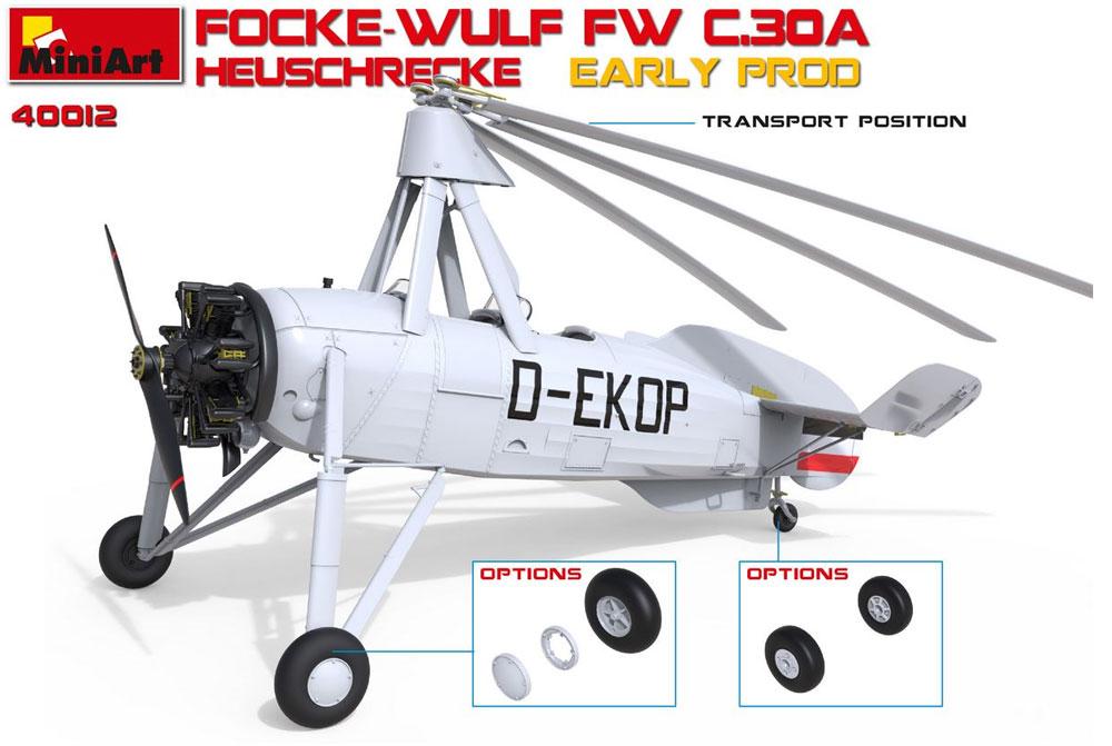 フォッケウルフ FW C.30A ホイシュレッケ 初期型プラモデル(ミニアートエアクラフトミニチュアシリーズNo.41012)商品画像_2