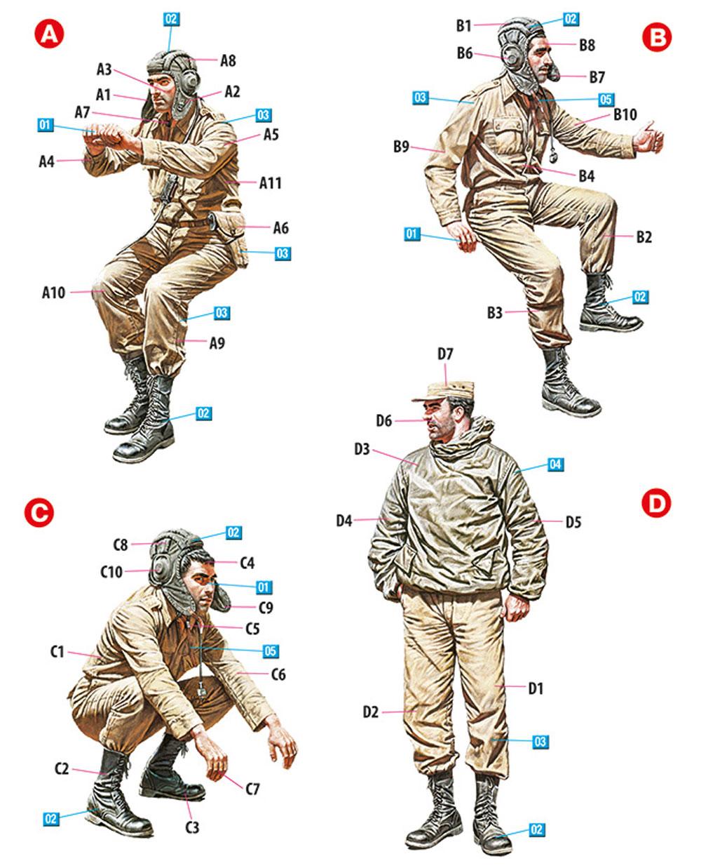 中東 戦車兵 1960-70年代プラモデル(ミニアート1/35 ミリタリーミニチュアNo.37061)商品画像_1