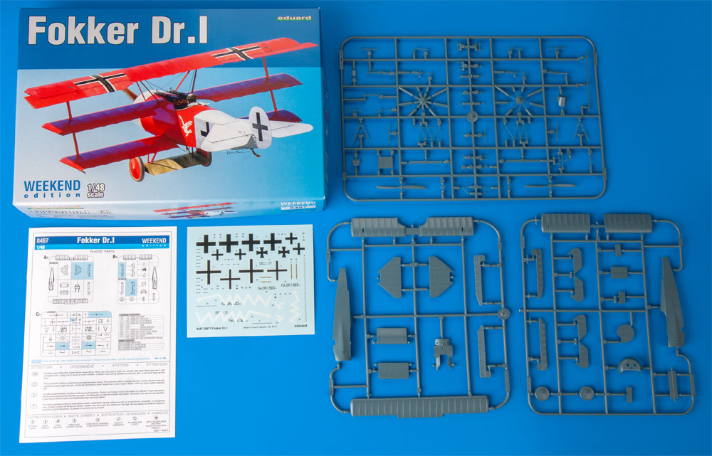 フォッカー Dr.1プラモデル(エデュアルド1/48 ウィークエンド エディションNo.8487)商品画像_1