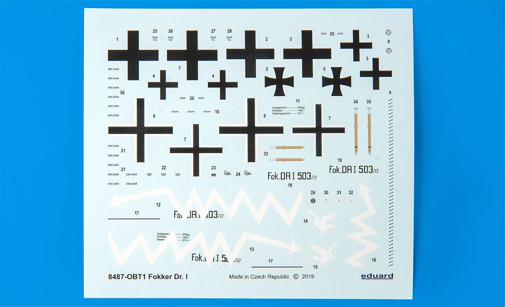 フォッカー Dr.1プラモデル(エデュアルド1/48 ウィークエンド エディションNo.8487)商品画像_3