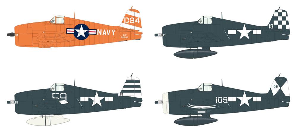 F6F-5 ヘルキャットプラモデル(エデュアルド1/144 SUPER44No.4463)商品画像_2