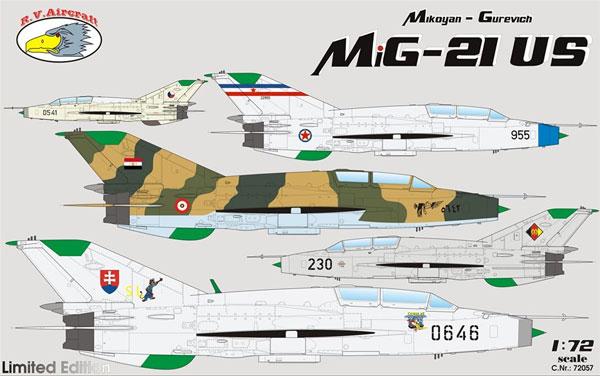 MiG-21US モンゴルB リミテッドエディションプラモデル(R.V.エアクラフト1/72 エアクラフト プラモデルNo.72057)商品画像