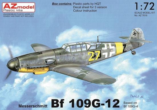 メッサーシュミット Bf109G-12 (G-4ベース型)プラモデル(AZ model1/72 エアクラフト プラモデルNo.AZ7616)商品画像