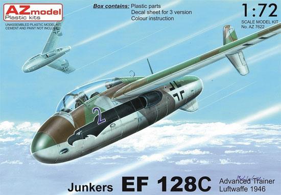 ユンカース EF128C 複座高等練習機プラモデル(AZ model1/72 エアクラフト プラモデルNo.AZ7622)商品画像