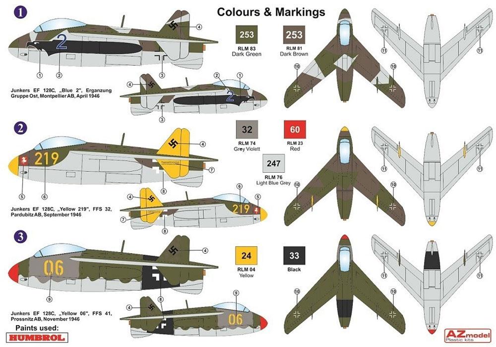 ユンカース EF128C 複座高等練習機プラモデル(AZ model1/72 エアクラフト プラモデルNo.AZ7622)商品画像_1