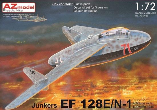 ユンカース EF128E/N1 w/ナクソスレーダー ルフトヴァッフェ 1946プラモデル(AZ model1/72 エアクラフト プラモデルNo.AZ7623)商品画像