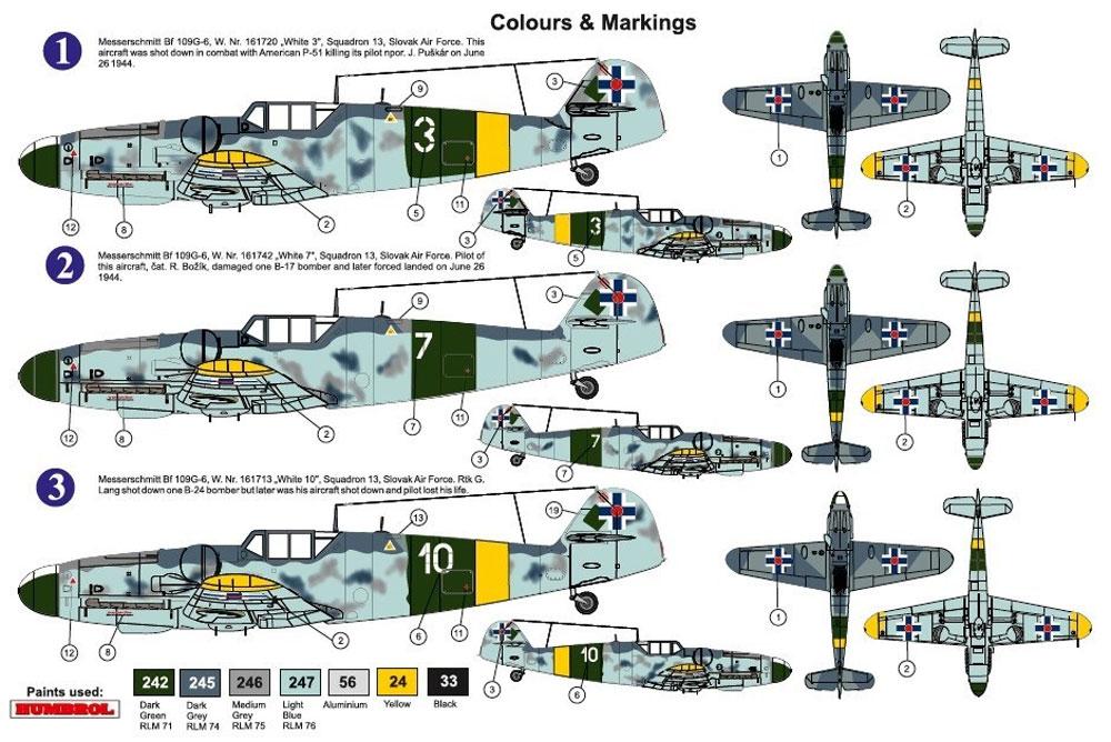 メッサーシュミット Bf109G-6 スロバキア リミテッドエディションプラモデル(AZ model1/72 エアクラフト プラモデルNo.AZ7625)商品画像_2