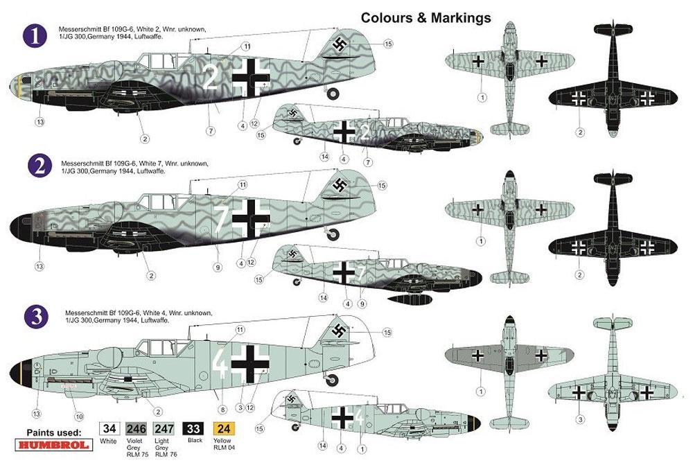 メッサーシュミット Bf109G-6 JG.300 ヴィルデ・ザウ リミテッドエディションプラモデル(AZ model1/72 エアクラフト プラモデルNo.AZ7627)商品画像_2