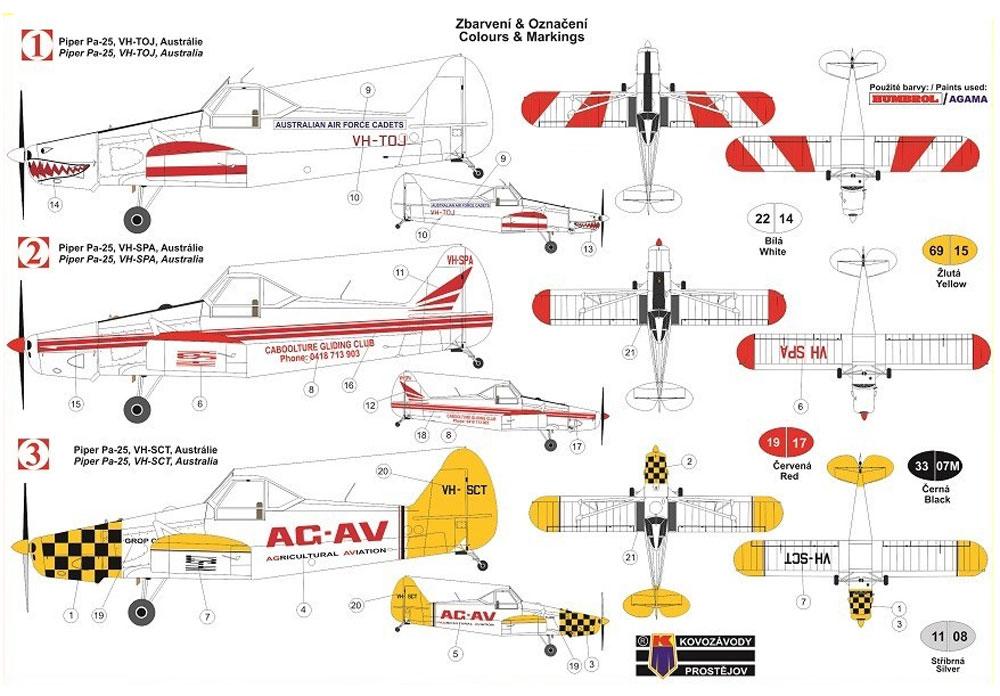 パイパー Pa-25 ポーニー 農業機 オーストラリアプラモデル(KPモデル1/72 エアクラフト プラモデルNo.KPM0125)商品画像_1
