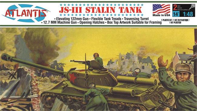 JS-3 スターリン戦車 (旧オーロラ)プラモデル(アトランティスプラスチックモデルキットNo.A303)商品画像