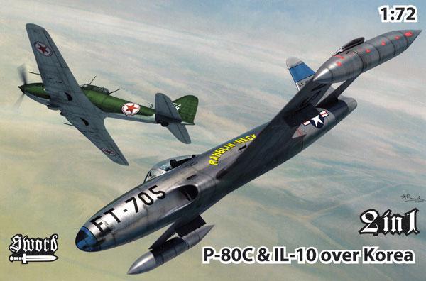 P-80C & IL-10 朝鮮戦争プラモデル(ソード1/72 エアクラフト プラモデルNo.SW72128)商品画像