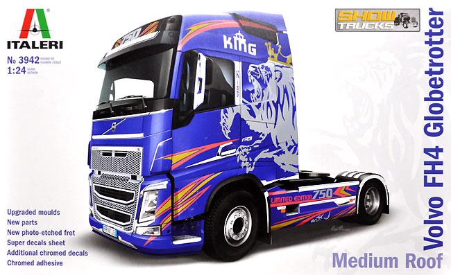 ボルボ FH4 グローブトロッター ミディアムルーフ ショウ トラックプラモデル(イタレリ1/24 トラックシリーズNo.3942)商品画像
