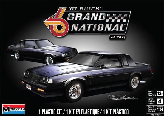 1987 ビュイック グランドナショナルプラモデル(レベルカーモデルNo.85-4495)商品画像