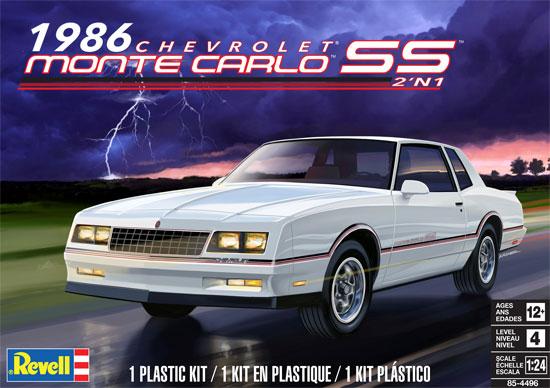 1986 シボレー モンテカルロ SS 2`n1プラモデル(レベルカーモデルNo.85-4496)商品画像