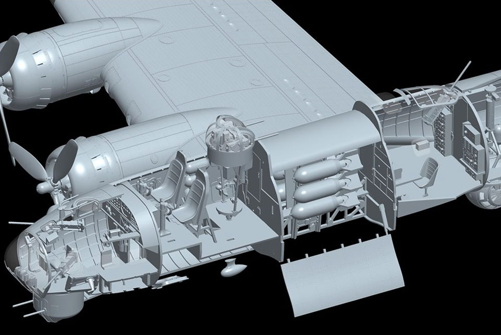 B-17G フライングフォートレス 前期型プラモデル(HKモデル1/48 エアクラフトNo.01F001)商品画像_4
