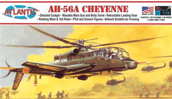 AH-56A シャイアン 攻撃ヘリプラモデル(アトランティスプラスチックモデルキットNo.A506)商品画像