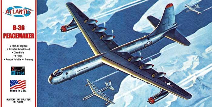 コンベア B-36 大型爆撃機 w/スイベルスタンドプラモデル(アトランティスプラスチックモデルキットNo.H205)商品画像