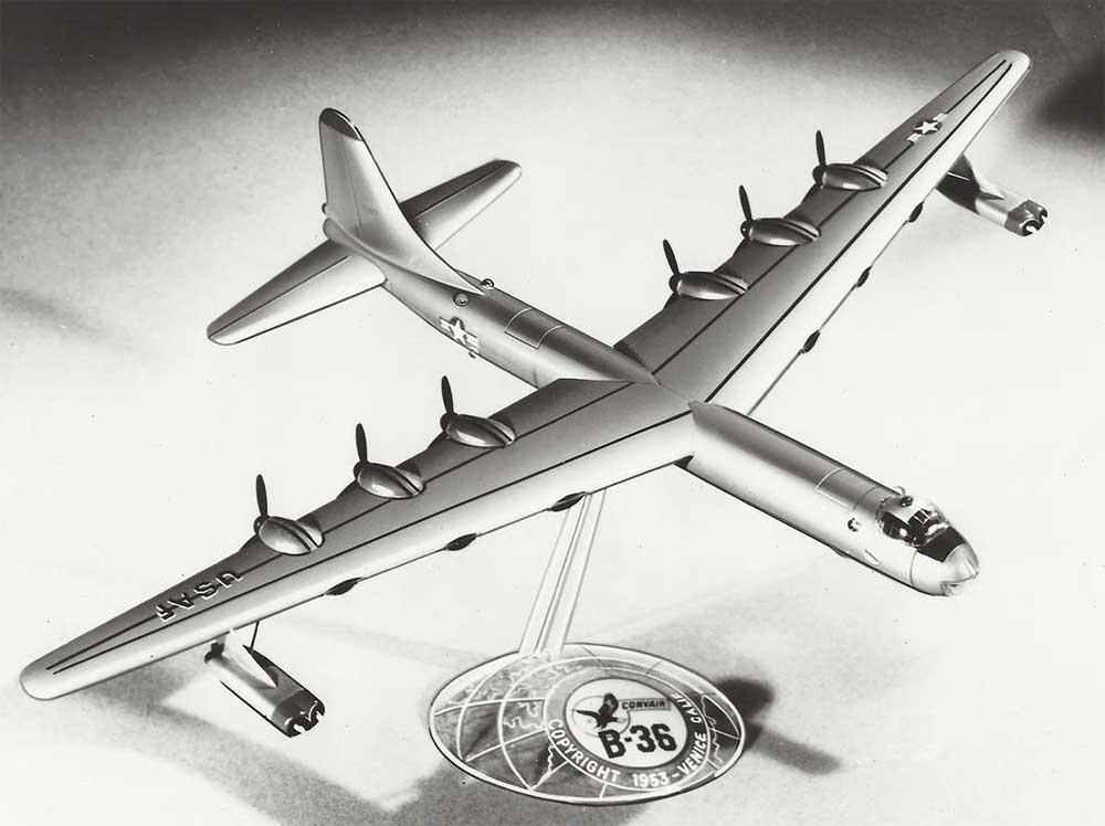コンベア B-36 大型爆撃機 w/スイベルスタンドプラモデル(アトランティスプラスチックモデルキットNo.H205)商品画像_1