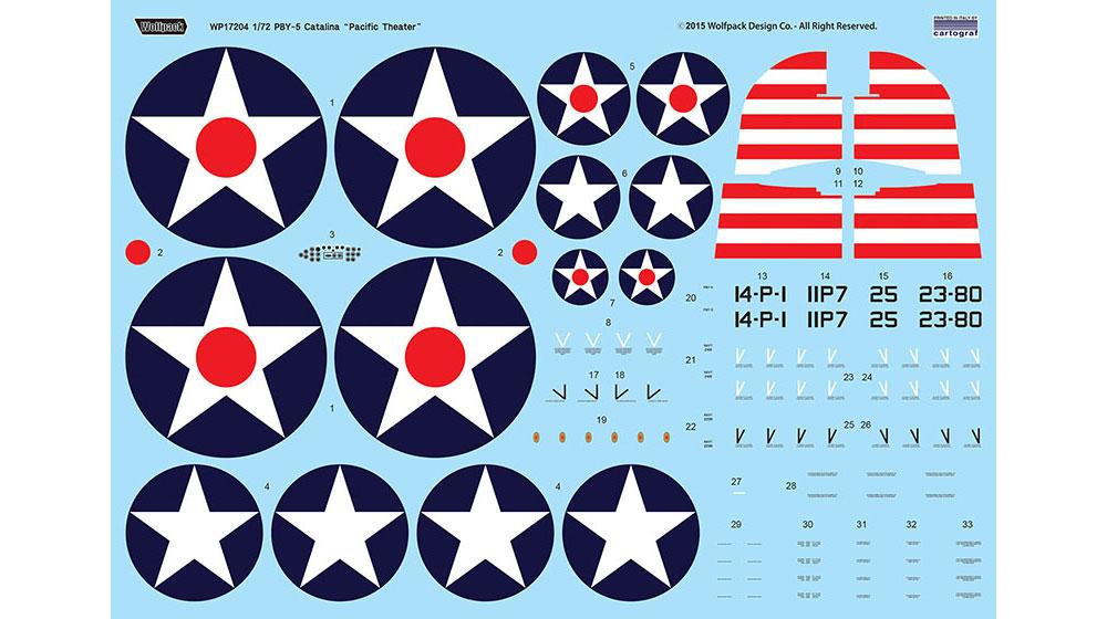 PBY-5 カタリナ パシフィックシアタープラモデル(ウルフパックウルフパックデザイン プレミアムエディションキットNo.WP17204)商品画像_3