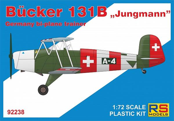 ビュッカー Bu131B ユングマン 練習機プラモデル(RSモデル1/72 エアクラフト プラモデルNo.92238)商品画像