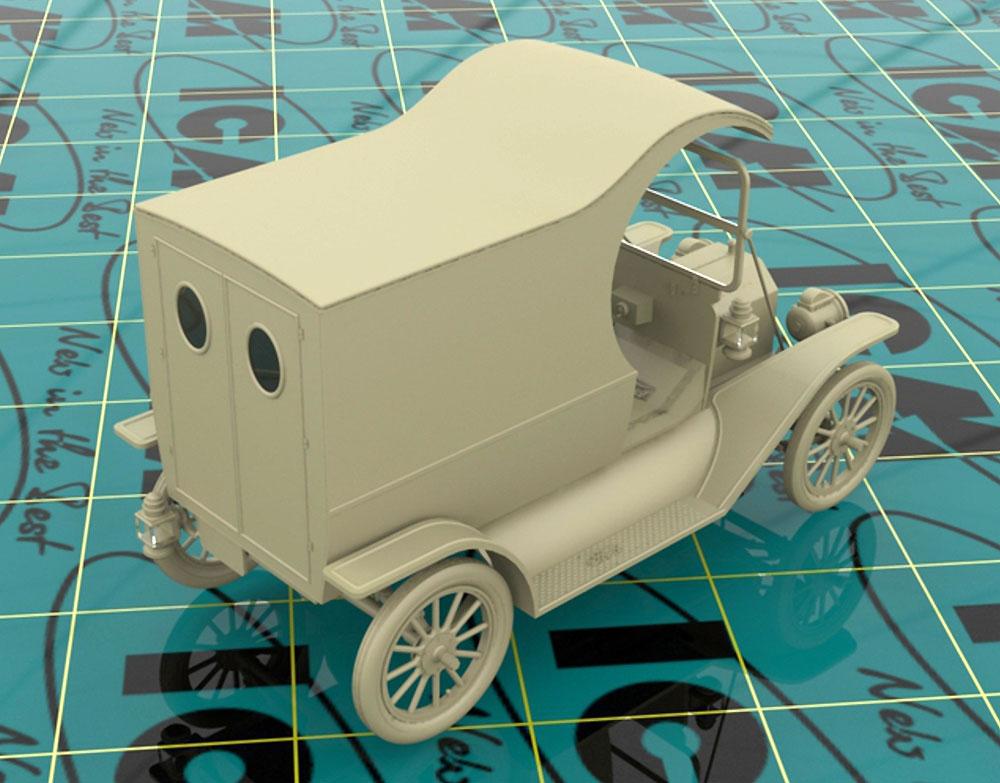 T型フォード 1912 ガソリンデリバリーカー w/配達員プラモデル(ICM1/24 カーモデルNo.24019)商品画像_4