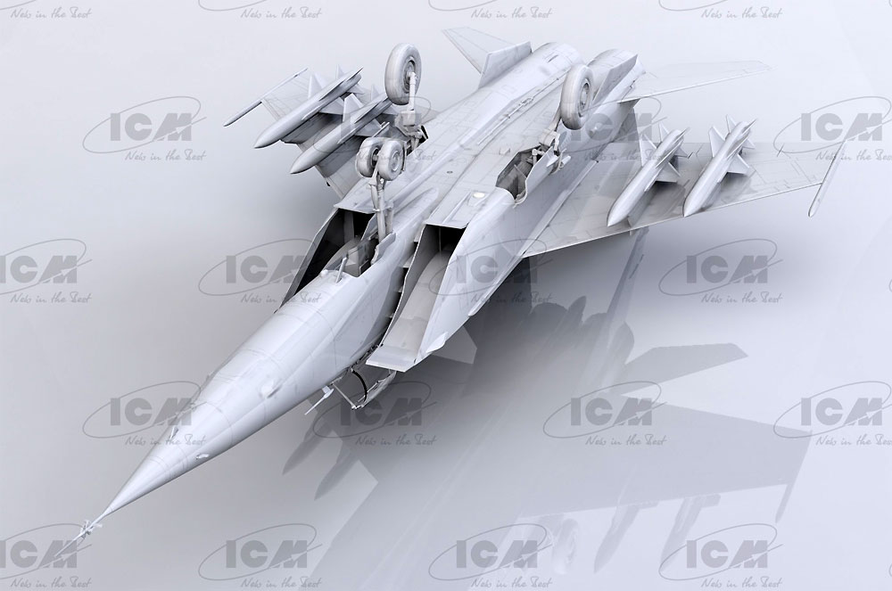 MIG-25BMプラモデル(ICM1/48 エアクラフト プラモデルNo.48905)商品画像_3