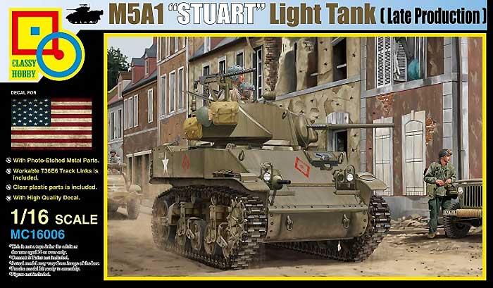 M5A1 スチュアート 軽戦車 後期型プラモデル(クラッシーホビー1/16 プラキットNo.MC16006)商品画像