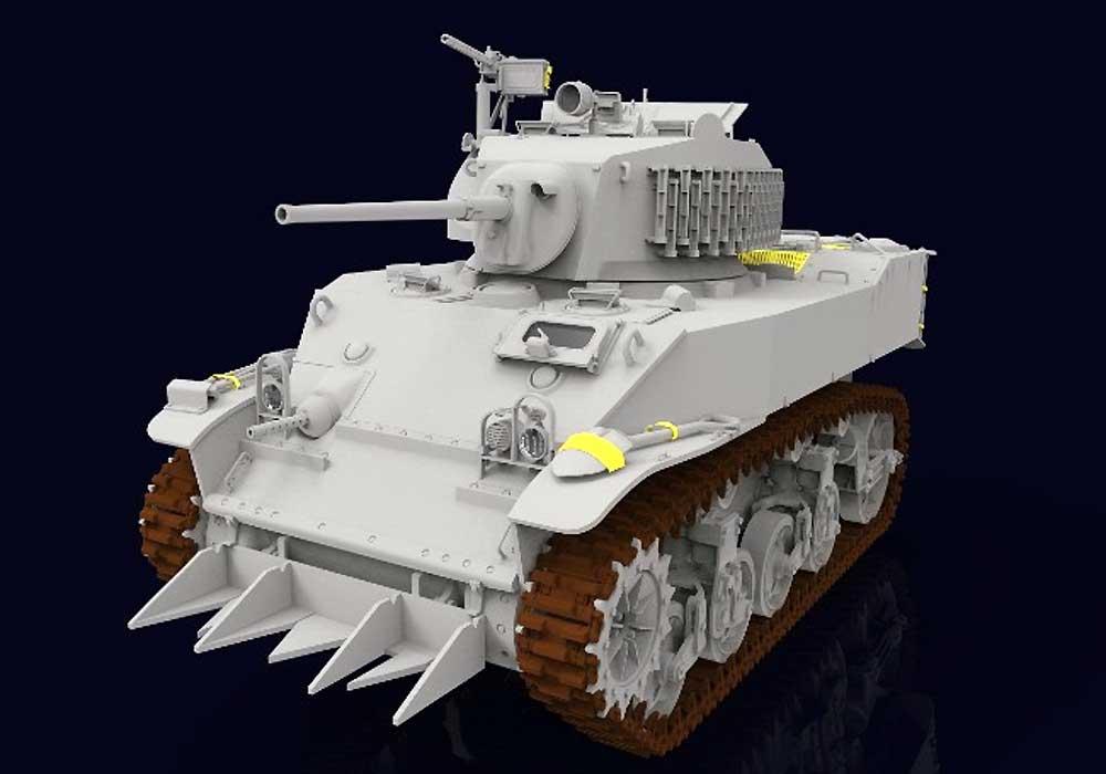 M5A1 スチュアート 軽戦車 後期型プラモデル(クラッシーホビー1/16 プラキットNo.MC16006)商品画像_1