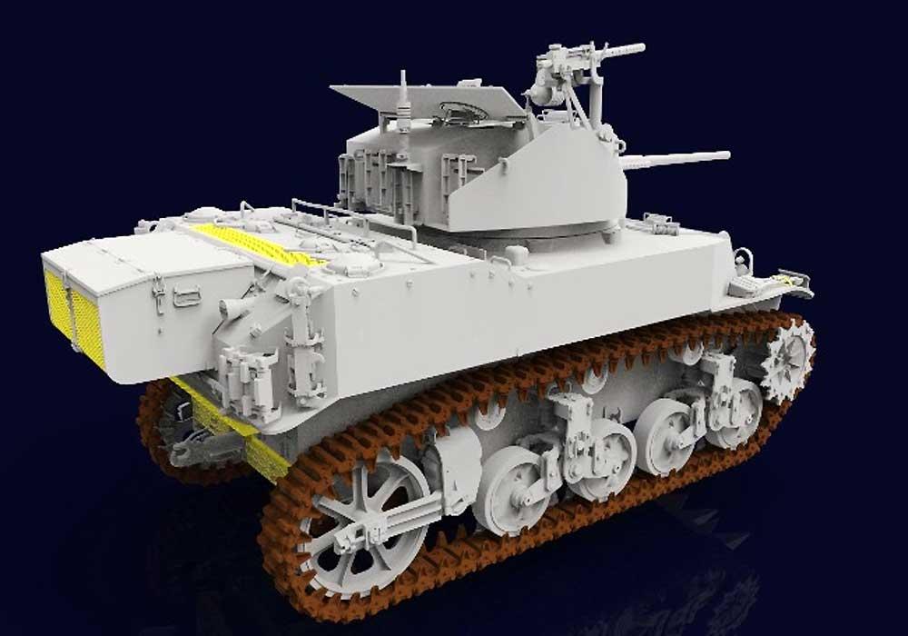 M5A1 スチュアート 軽戦車 後期型プラモデル(クラッシーホビー1/16 プラキットNo.MC16006)商品画像_2