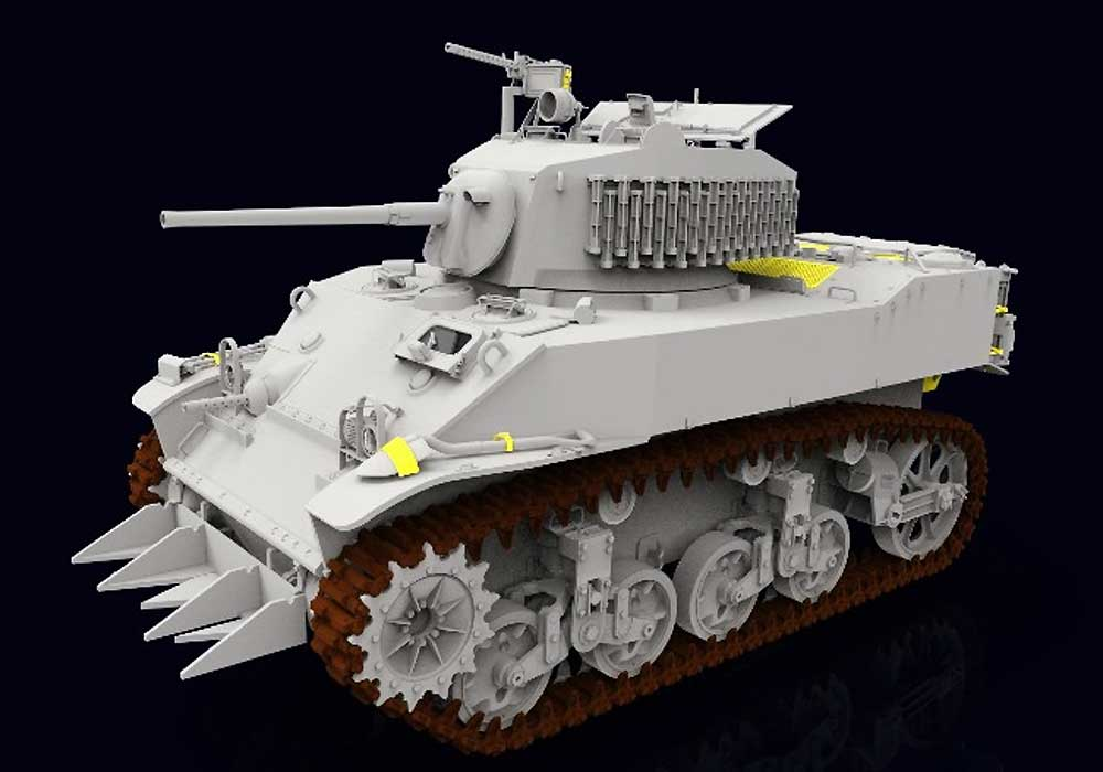 M5A1 スチュアート 軽戦車 後期型プラモデル(クラッシーホビー1/16 プラキットNo.MC16006)商品画像_3