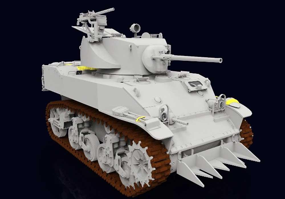 M5A1 スチュアート 軽戦車 後期型プラモデル(クラッシーホビー1/16 プラキットNo.MC16006)商品画像_4