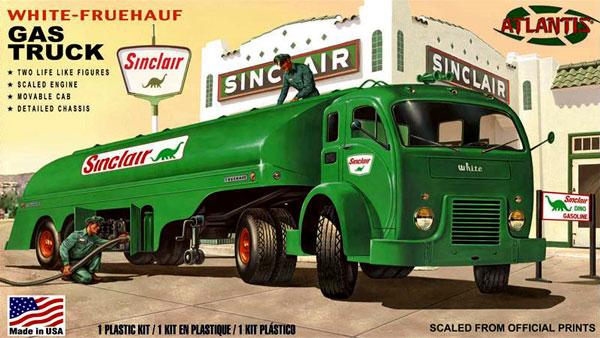 ホワイト フルハーフ ガストラックプラモデル(アトランティスプラスチックモデルキットNo.H1402)商品画像