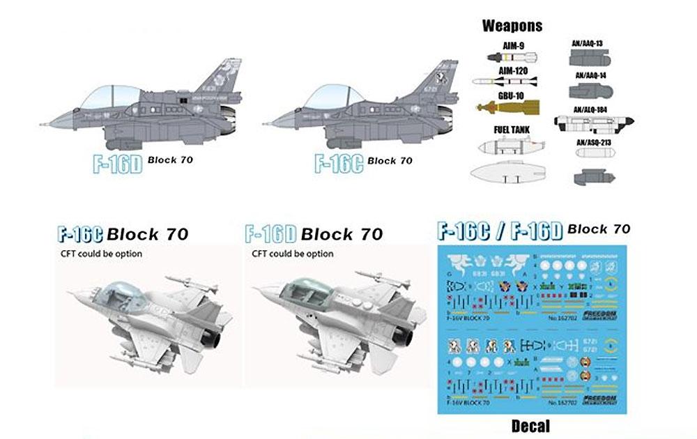 ROCAF F-16C/F-16D ブロック70 F-16V ヴァイパープラモデル(フリーダムモデルコンパクトシリーズNo.162712)商品画像_1