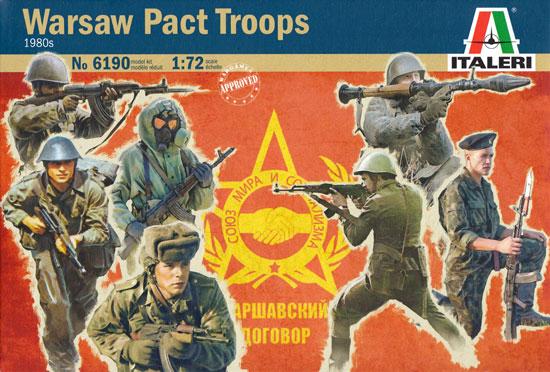 ワルシャワ条約機構 兵士プラモデル(イタレリ1/72 ミリタリーシリーズNo.6190)商品画像