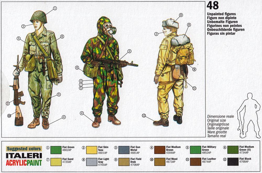ワルシャワ条約機構 兵士プラモデル(イタレリ1/72 ミリタリーシリーズNo.6190)商品画像_1