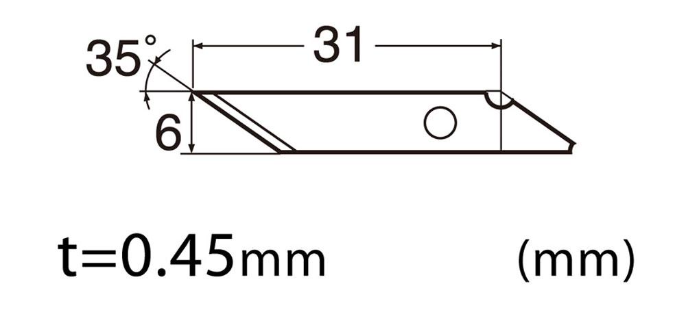 Mr.デザインナイフ用 替刃 10枚入カッター(GSIクレオス研磨 切削 彫刻No.MT702)商品画像_2