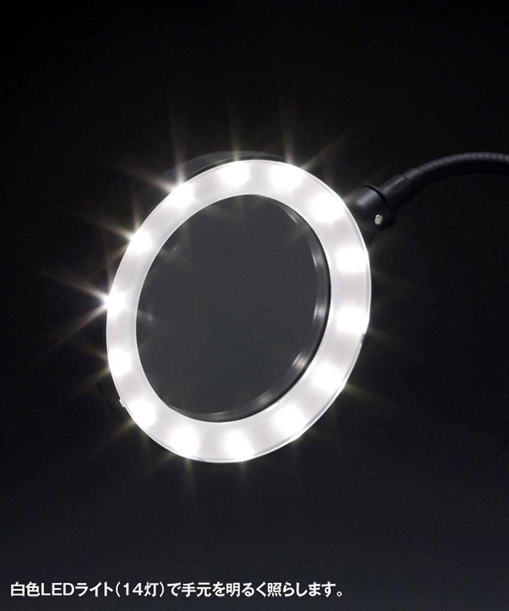 ルーペスタンド LEDライト付 USB給電タイプルーペ(ウェーブホビーツールシリーズNo.HT-065)商品画像_2