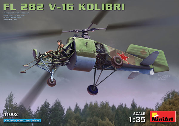 FL282 V-16 コリブリプラモデル(ミニアートエアクラフトミニチュアシリーズNo.41002)商品画像
