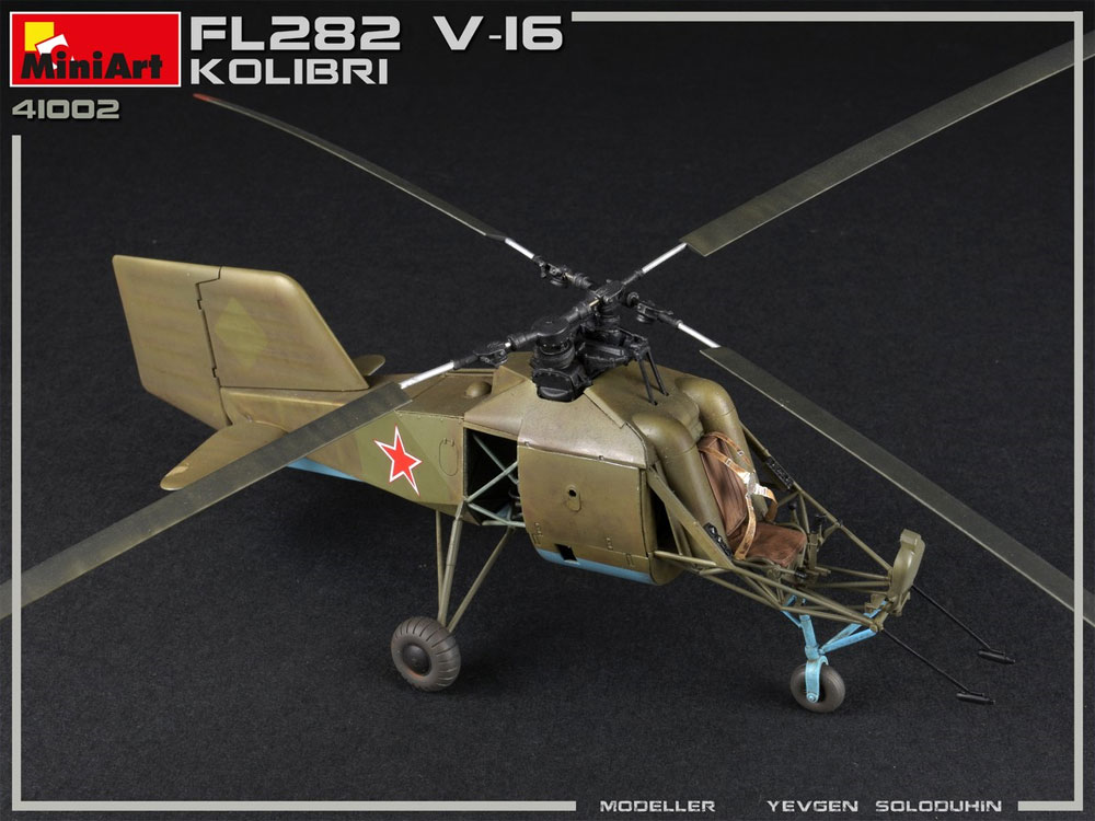 FL282 V-16 コリブリプラモデル(ミニアートエアクラフトミニチュアシリーズNo.41002)商品画像_3